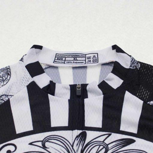 White Skull Cycling Jersey - Mandarin Collar