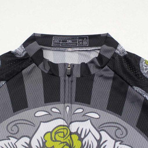 Dark Skull Cycling Jersey - Mandarin Collar