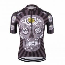 Dark Skull Cycling Jersey - Front View