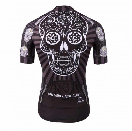Dark Skull Cycling Jersey - Rear View