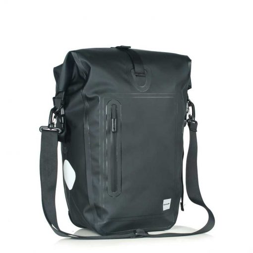 Waterproof Bicycle Pannier Bag - plain black color