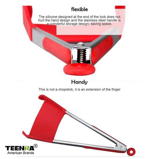 2-in-1 Spatula and Tongs-usage
